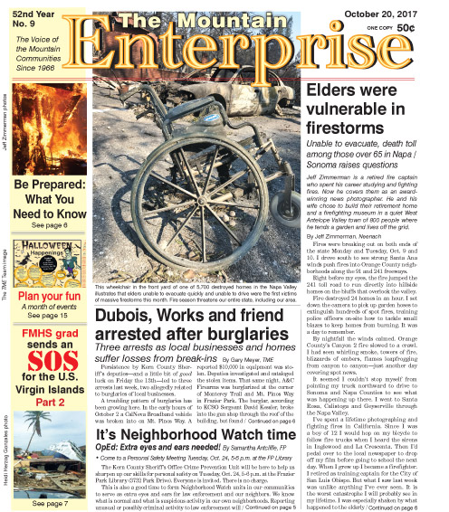 The Mountain Enterprise October 20, 2017 Edition