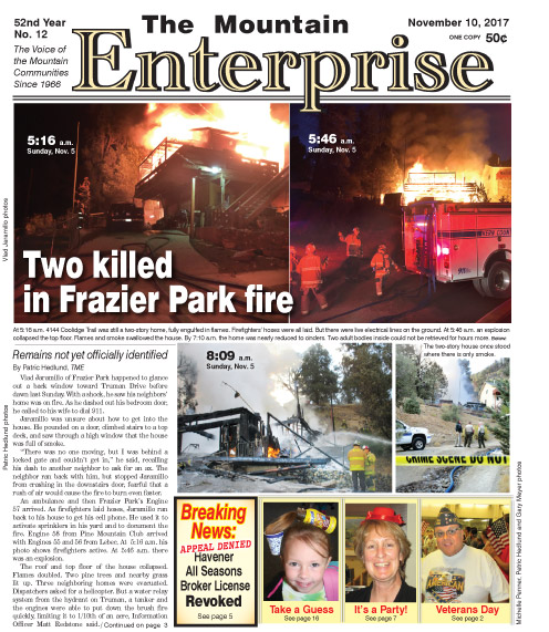 The Mountain Enterprise November 10, 2017 Edition