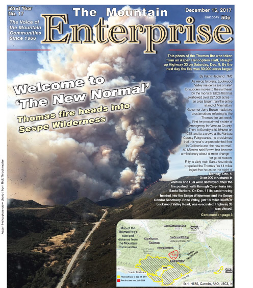 The Mountain Enterprise December 15, 2017 Edition