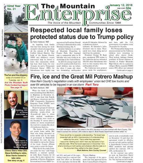 The Mountain Enterprise January 12, 2018 Edition