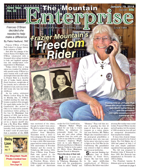 The Mountain Enterprise January 19, 2018 Edition