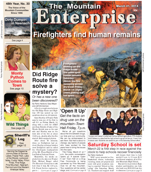 The Mountain Enterprise March 21, 2014 Edition