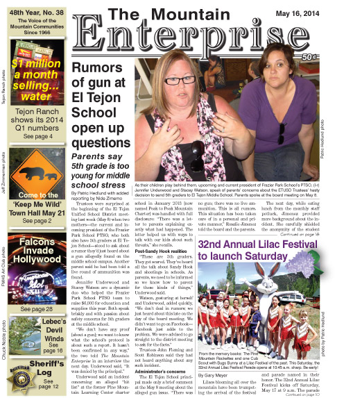 The Mountain Enterprise May 16, 2014 Edition