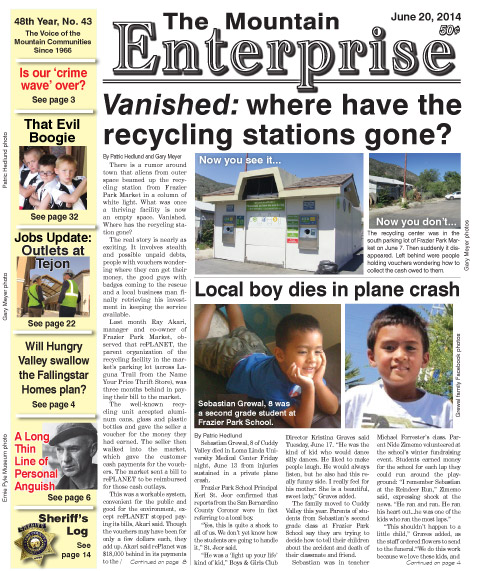 The Mountain Enterprise June 20, 2014 Edition