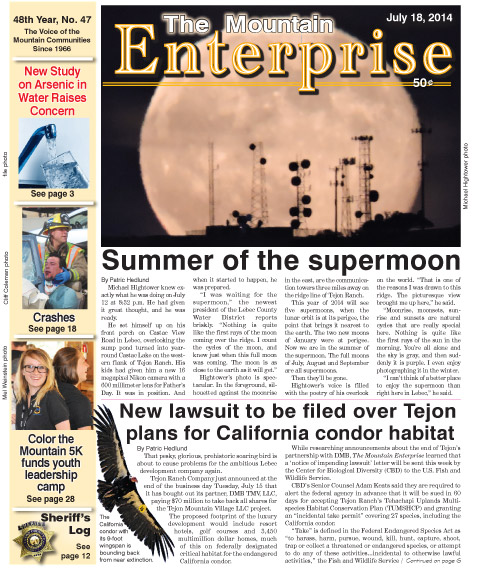 The Mountain Enterprise July 18, 2014 Edition