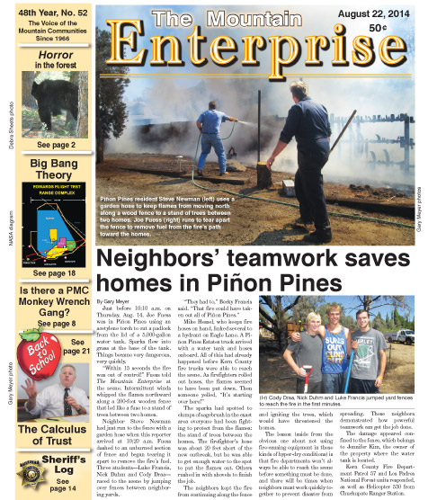 The Mountain Enterprise August 22, 2014 Edition