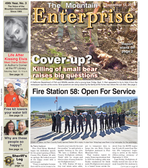 The Mountain Enterprise September 12, 2014 Edition