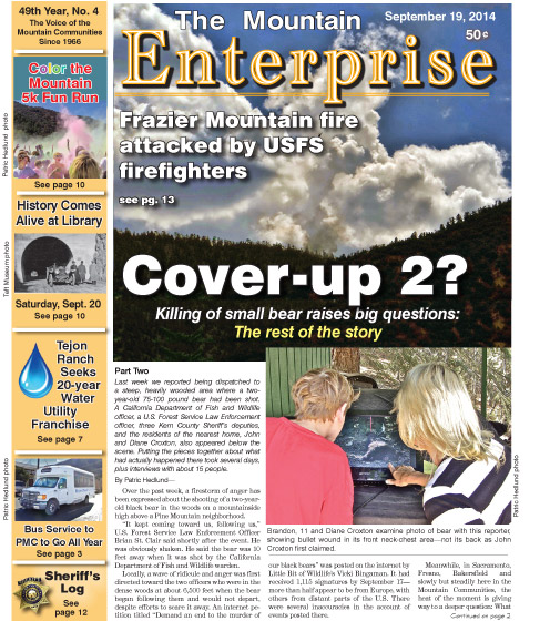 The Mountain Enterprise September 19, 2014 Edition