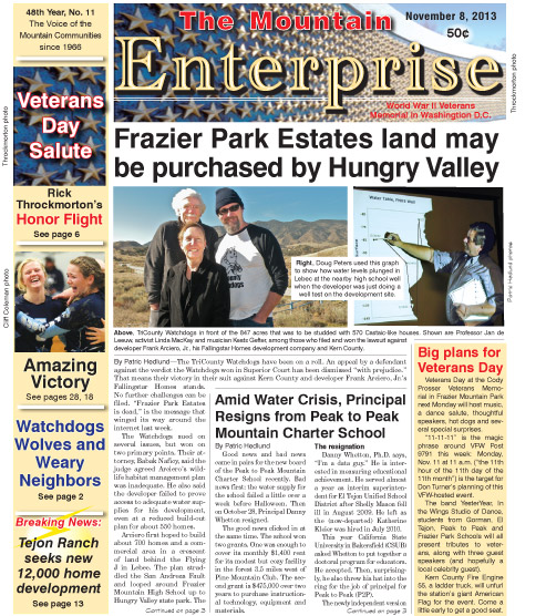 The Mountain Enterprise November 8, 2013 Edition