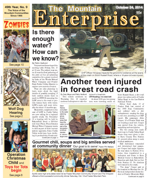 The Mountain Enterprise October 24, 2014 Edition