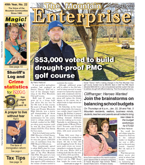 The Mountain Enterprise January 23, 2015 Edition