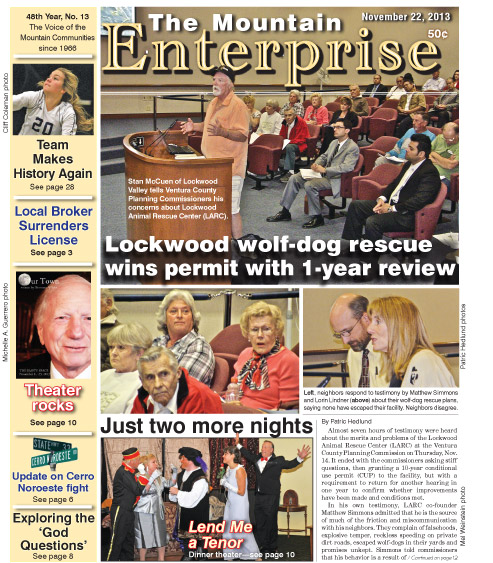 The Mountain Enterprise November 22, 2013 Edition