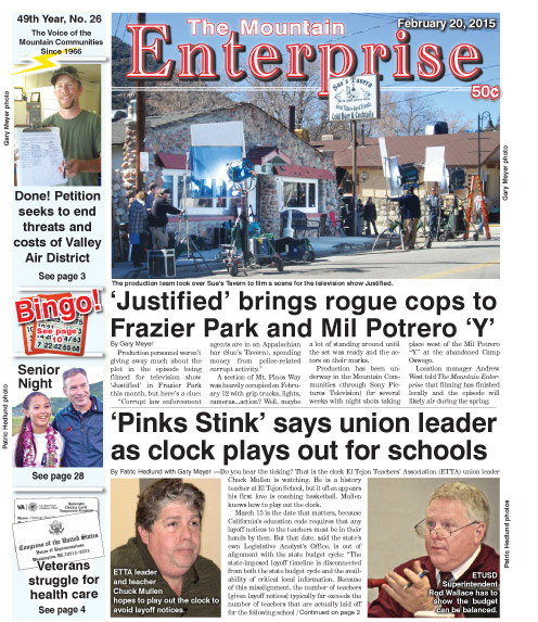 The Mountain Enterprise February 20, 2015 Edition