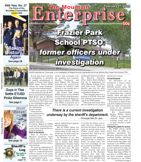 The Mountain Enterprise February 27, 2015 Edition