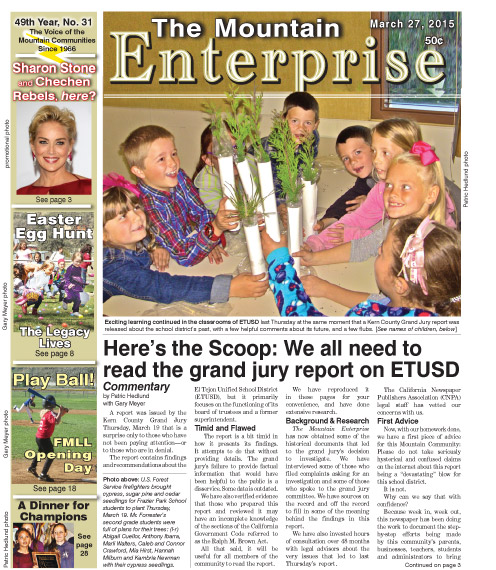 The Mountain Enterprise March 27, 2015 Edition