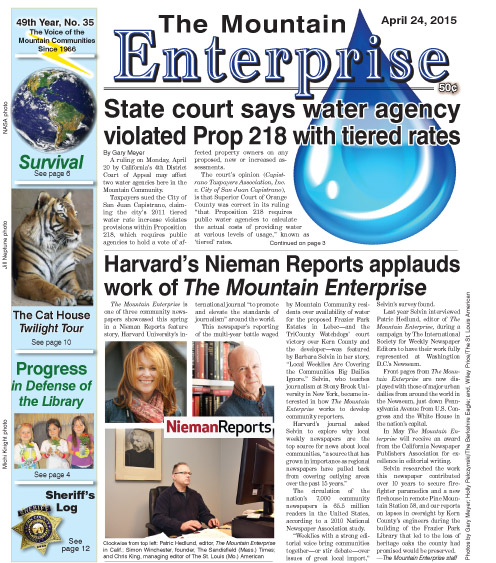 The Mountain Enterprise April 24, 2015 Edition