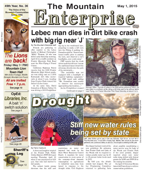 The Mountain Enterprise May 1, 2015 Edition