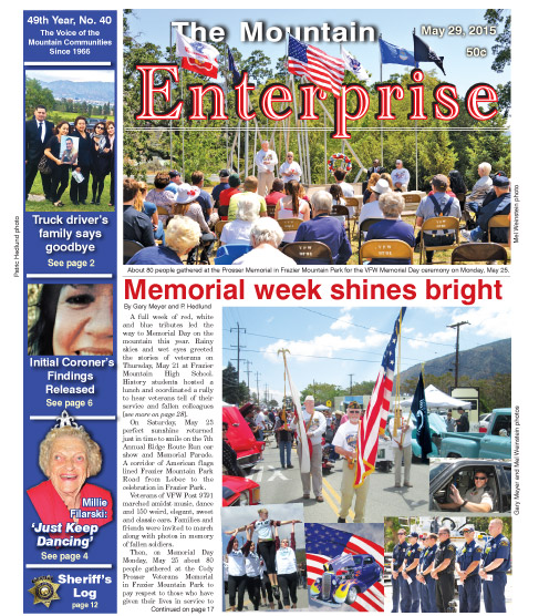 The Mountain Enterprise May 29, 2015 Edition