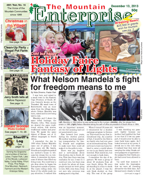 The Mountain Enterprise December 13, 2013 Edition