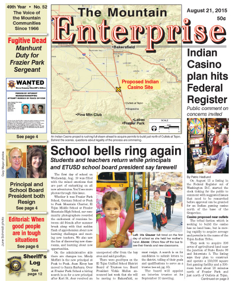 The Mountain Enterprise August 21, 2015 Edition