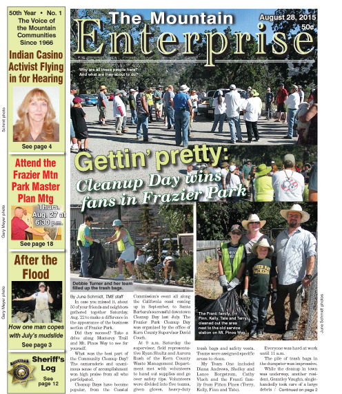 The Mountain Enterprise August 28, 2015 Edition