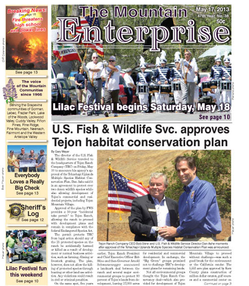 The Mountain Enterprise May 17, 2013 Edition