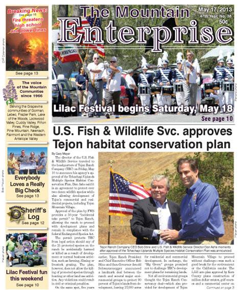 The Mountain Enterprise May 17, 2013 Edition