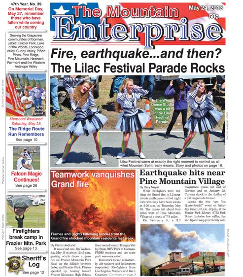 The Mountain Enterprise May 24, 2013 Edition