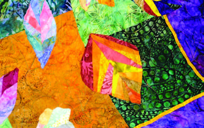 Detail of the beautiful 'Opportunity Quilt' to be raffled at the show. [Mary McDevitt photo]