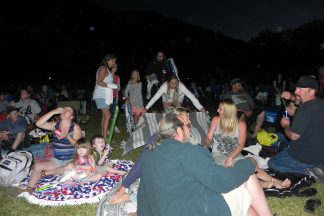 An estimated 600 friends, families, and neighbors attended the Virtual Fireworks event in 2017.
