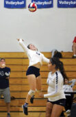 Falcons slay in home court volleyball opener