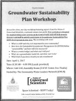 Groundwater Sustainability workshop set for April 1