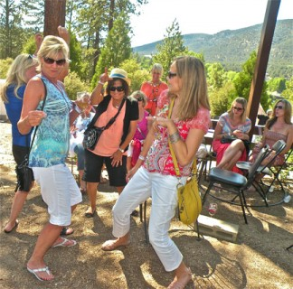 Wine, music, fine food and good friends in beautiful Pine Mountain Village offer irresistible fun this weekend. [photo by Patric Hedlund]
