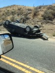 Car flips on Gorman Post Road