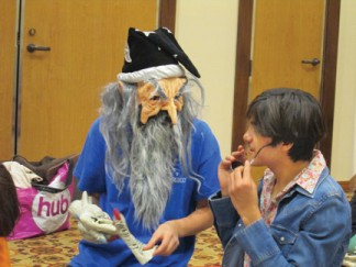 "Costumes are part of the fun on alternating Thursdays at 3 p.m. at the Frazier Park Library. ""I was asked to hold a workshop on Cosplay by Scott from Computers and Games (in partnership with the library) to provide a fun workshop for the youth in our community—we have a lot of young geeks up here—and kids love to dress up. I mean, who doesn't?"" asks Hungerford. [photo by Gary Meyer]"
