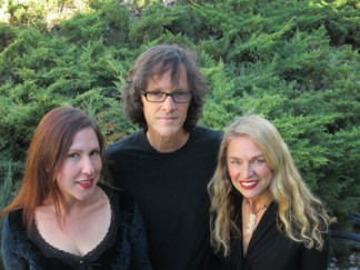 (l-r), Linnea Soledad, Jim Hanson and Sarah-Jane Owen, three of the numerous musicians who will be performing at the Artisans Gallery opening on Saturday, Nov. 30. [photo by Gary Meyer]