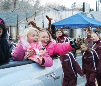 The In the Wings Dance kids were excited about being in the parade. [photo by Gary Meyer]