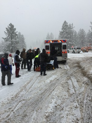 Two accidents along Frazier Mountain Park Road and the Mil Potrero Highway near the 'Y' were reported by photographer Jeff Zimmerman of Neenach at 2 p.m. [Special to The Mountain Enterprise]