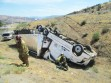 Big rig rolls over side of I-5 at Frazier Mountain Park Road