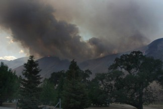 An overview of the fire area by O'Neill Canyon resident Chuck Noble.