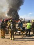Fire burning in Antelope Acres, Lancaster
