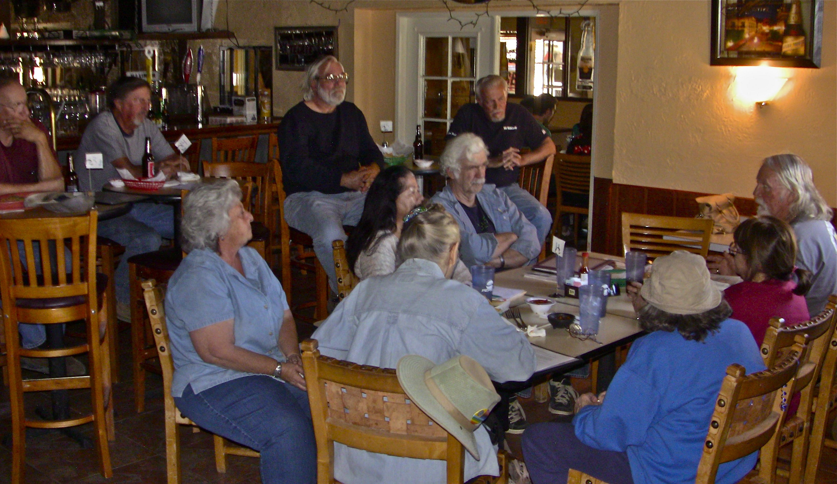 Some of the neighbors meeting with TriCounty Watchdogs to explore options for challenging negative declaration by Ventura County, which Watchdogs say would stop the ability to secure more complete information and community dialogue about the proposed facility to house 60 wolves and wolf dogs. LARC's 'Howling Press' newsletter ridicules the neighbors and their concerns as being hysterical and exaggerated.