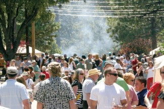 Join in on the fun in the Village at noon! [photo by The Mountain Enterprise]