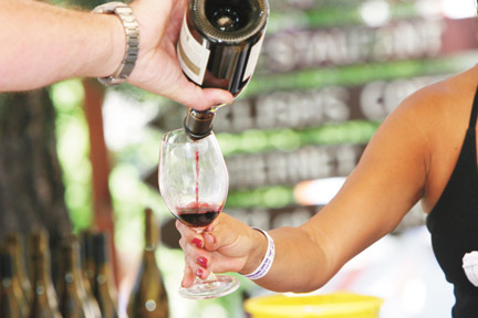 A tasty experience for wine lovers launches at noon on Saturday, June 8 in Pine Mountain Village. [photo by The Mountain Enterprise]