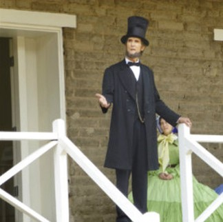 President Lincoln will address the people at Fort Tejon on Sunday, June 1. [Karina Mooradian photo]