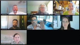 [LPNF meeting video image]
