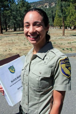 Victoria Monroe, the new wildlife biologist for the Kern County office, commanded the operation. [photo by Jeff Zimmerman]