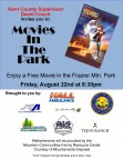 Don't forget Friday Night's Movies in the Park 8:30 p.m., August 22