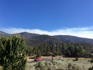 Nancy Dudley sent this shot of the smoke visible from Pine Mountain Club on Thursday, June 30.