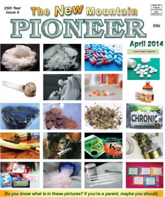 [Click to enlarge] April cover of The New Mountain Pioneer